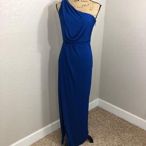 BCBG Maxazria Dark Blue Maxi High Slit Dress